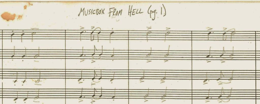 Musicbox From Hell musical score
