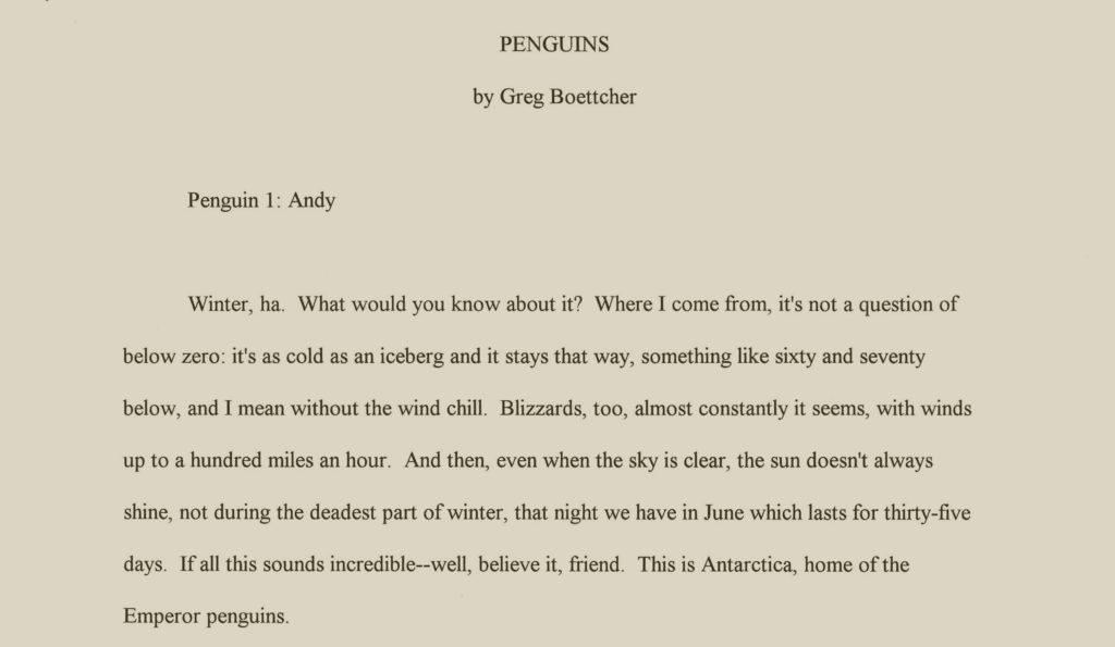 Penguins by Greg Boettcher